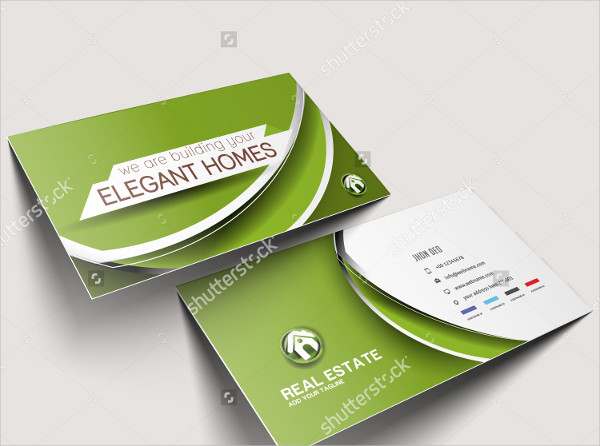 Elegant Real Estate Business Cards Set