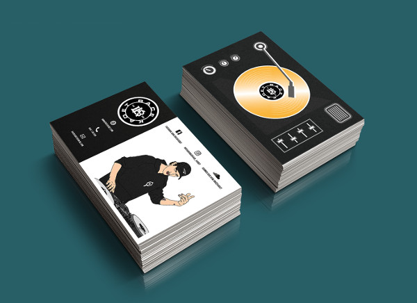 Business Cards for a DJ Client