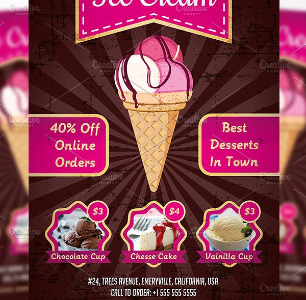 Perfect Ice Cream Flyer Template