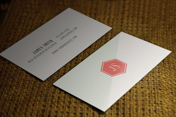 Clean Vintage Style Business Card Design