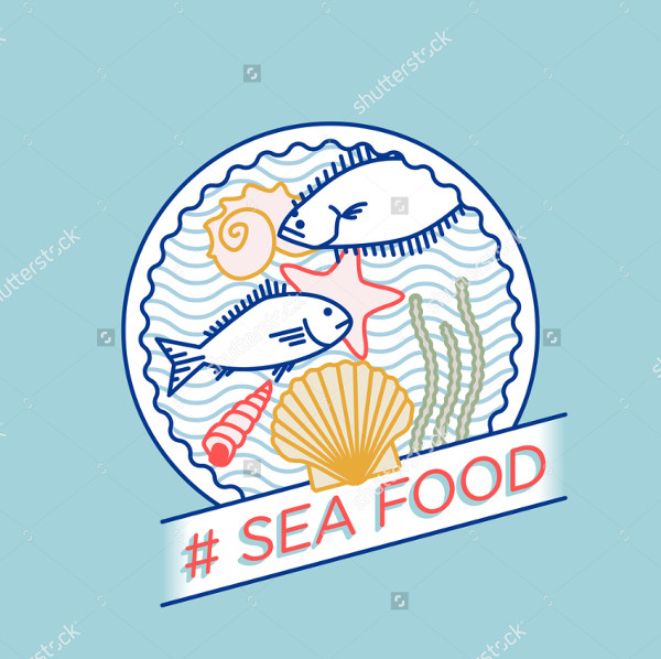 Sea Line Vector Badge