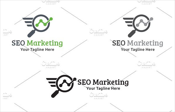 Branding SEO Marketing Logo Template