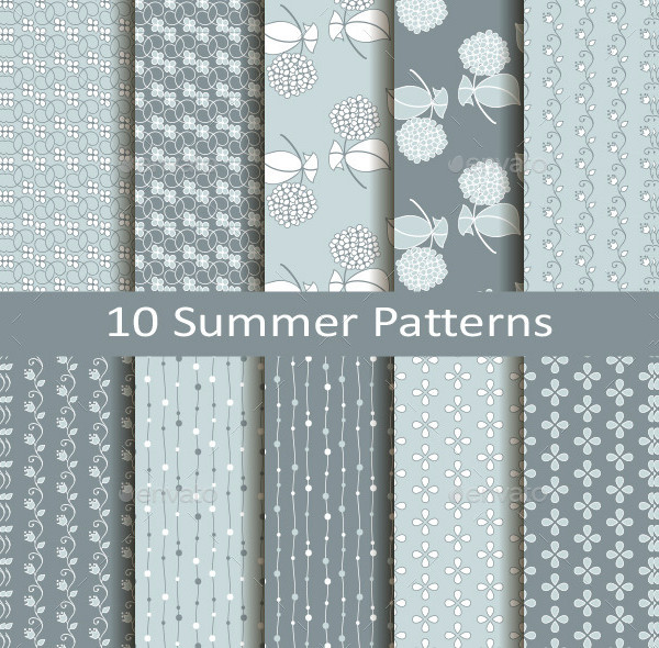 Set of Ten Summer Pattern