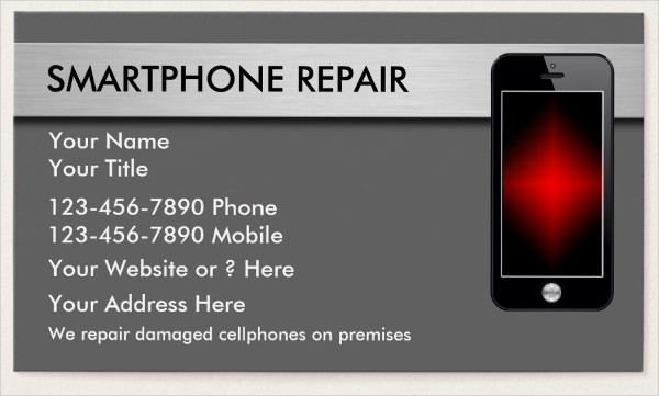Smart Phone Repair Business Card