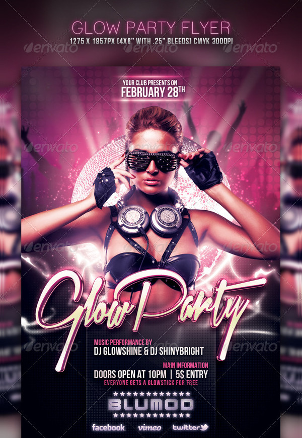Night Club Event Flyer PSD