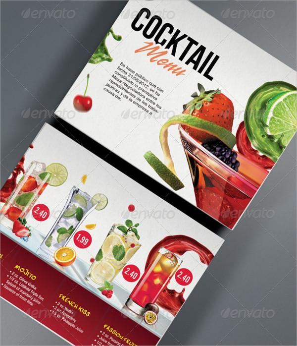 Printable Cocktail Menu Template