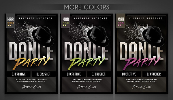 Stylish Dance Party Club Flyer Design