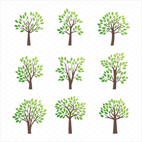 Stylized Tree Vector Logo Designs