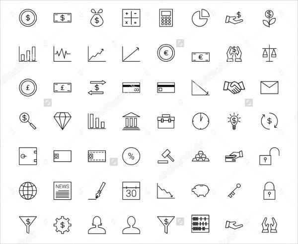 Finance Line Icons Collection