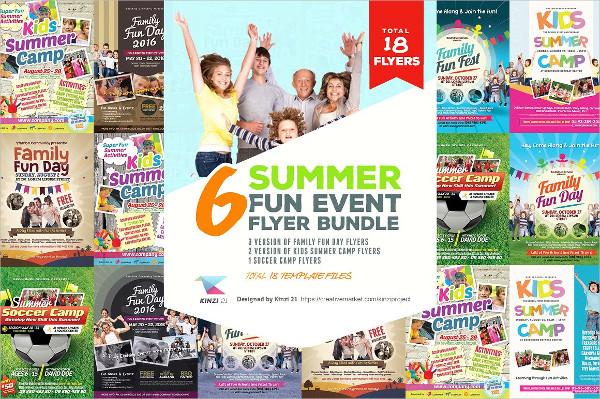 Summer Fun Event Flyers Bundle