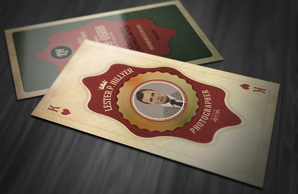 Vintage Playing Business Card PSD