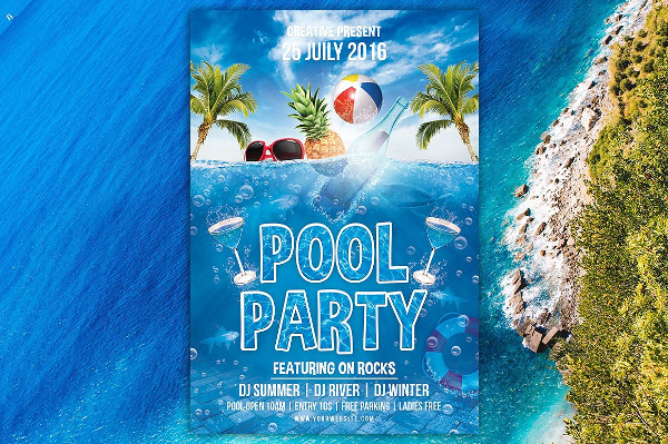 Cool Vacation Flyer Design