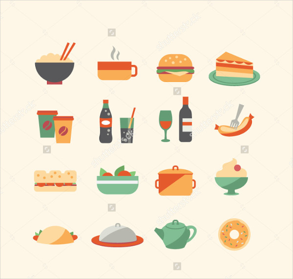 Vector Food Icon Collection