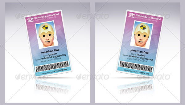 Vertical Id Card Templates