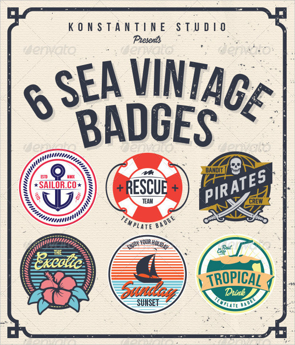 6 Vintage Badges Download