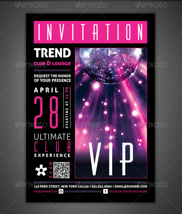 VIP Club Event Invitation Card Template