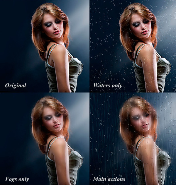 Water Drops Effect Photoshop Actions
