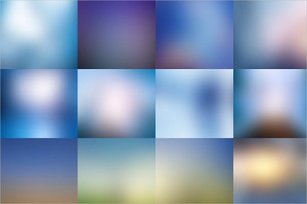 12 Blue Blurred HD Backgrounds