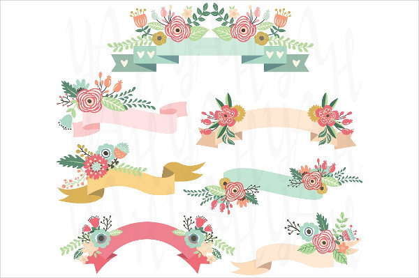 Wedding Floral Bannersfor Invitations