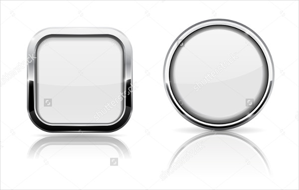 White Glass Shiny Buttons Download