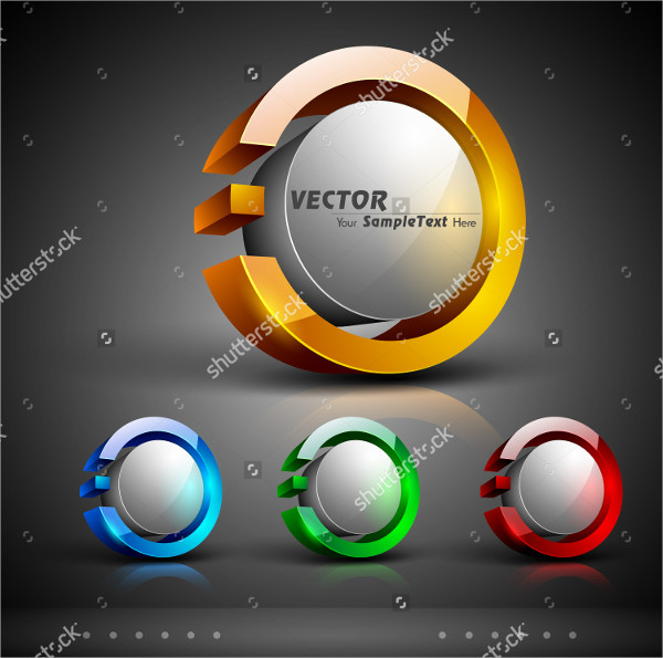 Abstract 3D glossy Icon Set