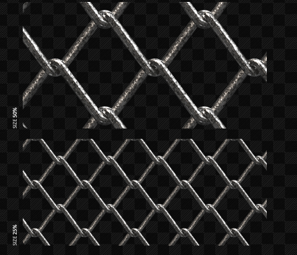 3D Realistic Wire Fence Patterns