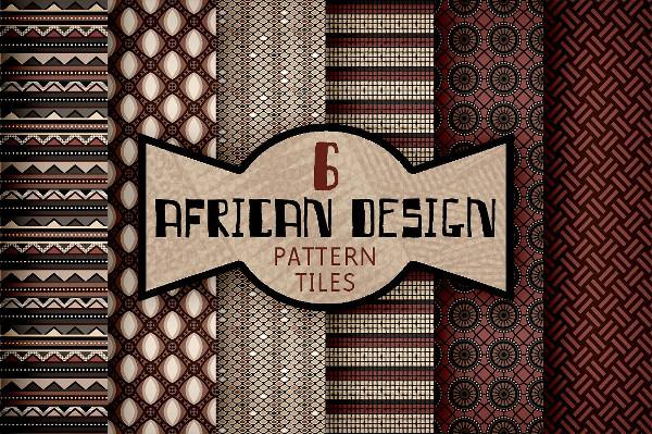 African Textile Design Pattern