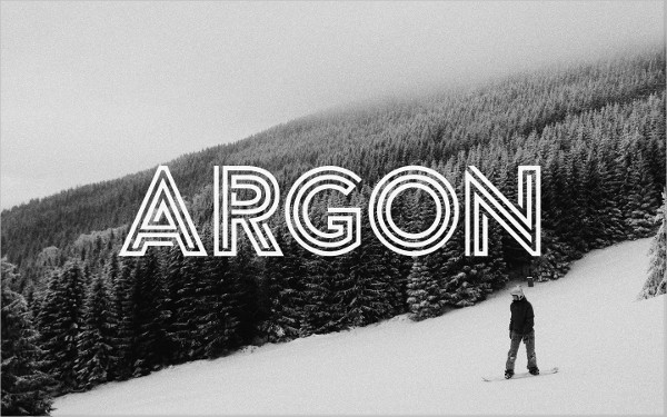 Argon Logo Font