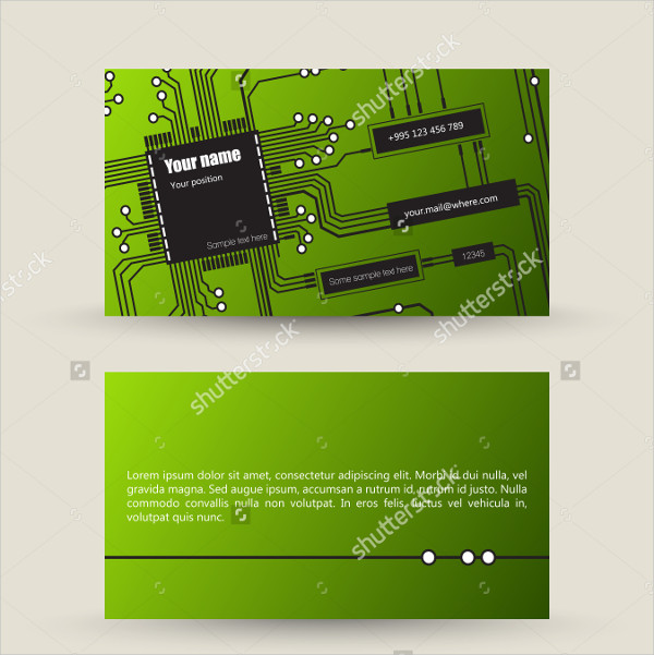 Music Composer Business Card Design