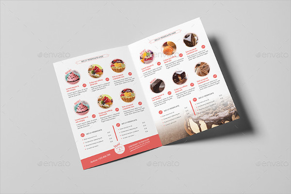 Bakery & Cupcake Shop Menu Designs