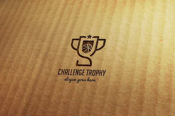 Basketball Challenge Trophy Logo