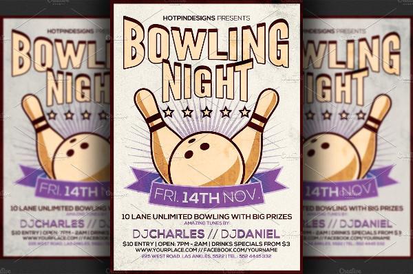 Print Ready Bowling Night Flyer Ideas