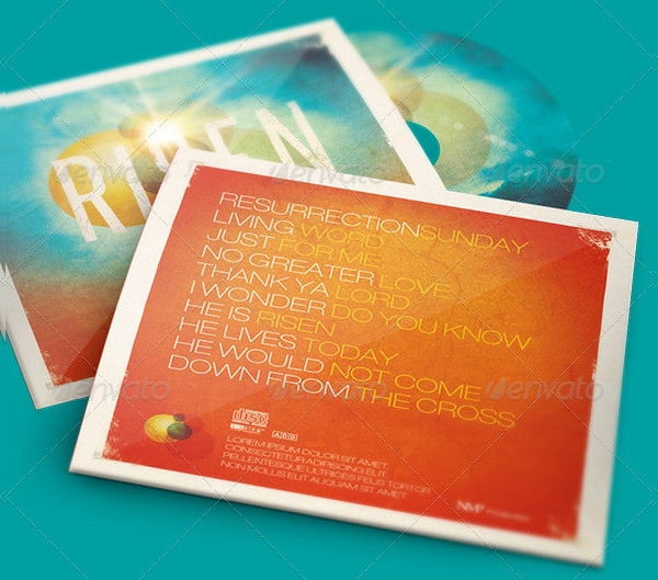 Risen CD Artwork Templates