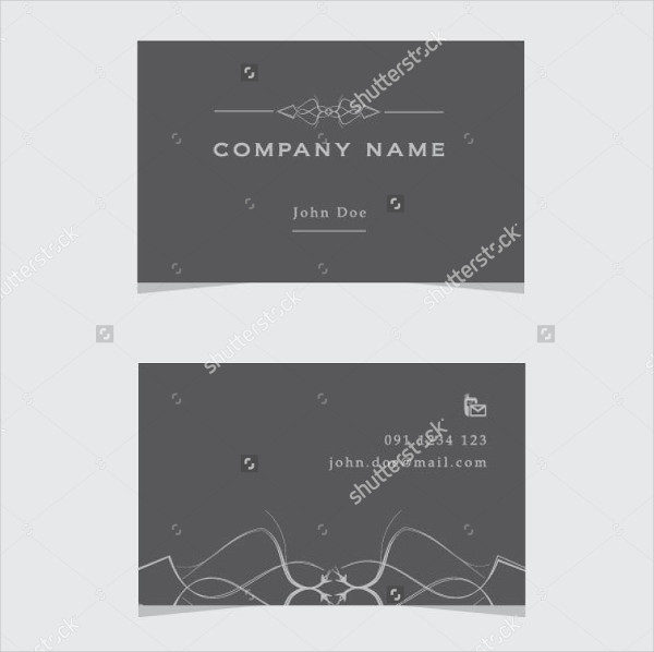 Exclusive Fancy Business Card Template