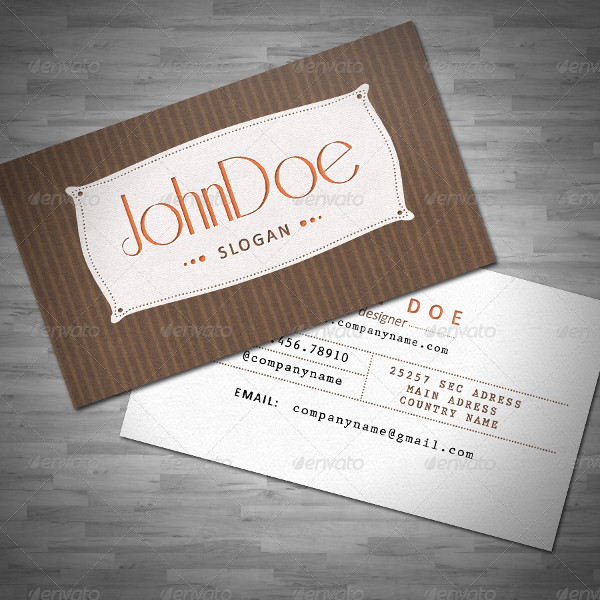 PSD Retro Business Card Template