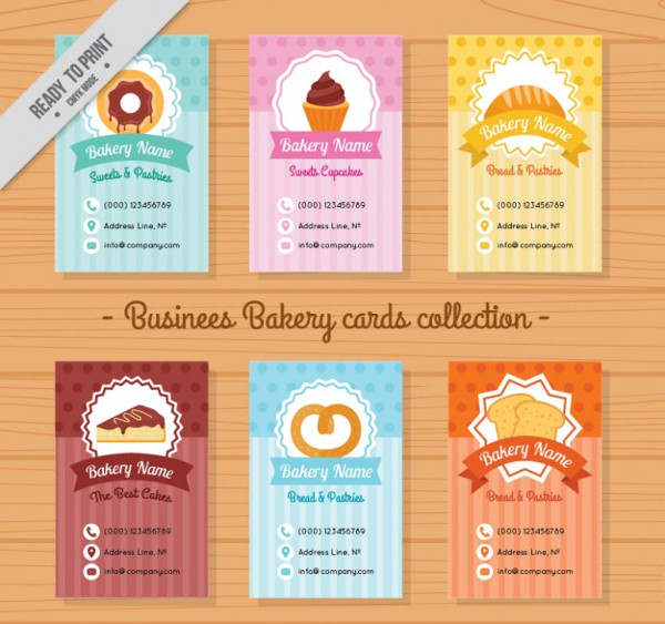 Collection of Cute Bakery Menu Templates Free