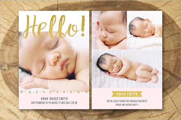 Cute Baby Birth Announcement Design
