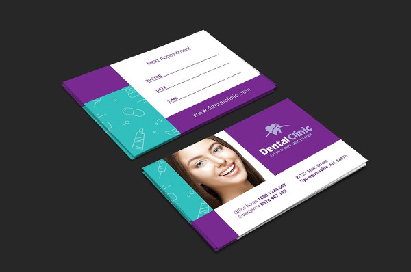 Dental Clinic Appointment Card