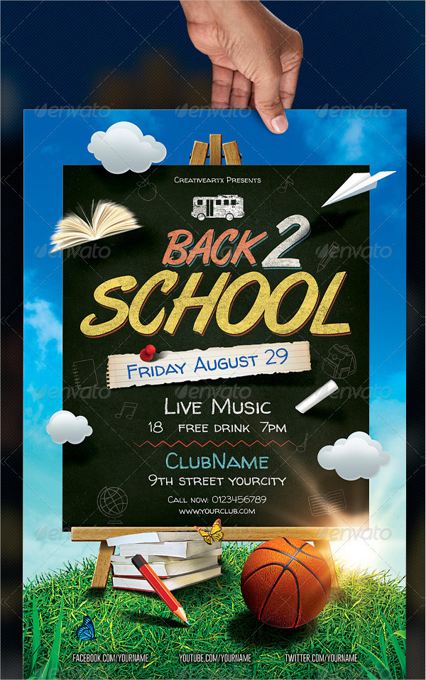 Attractive Back To School Flyer Template