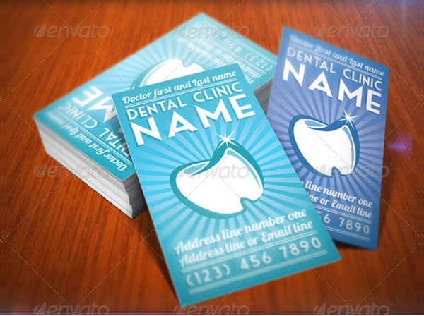 Elegant Dentist Business Card Template