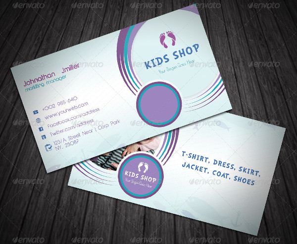 Perfect Kids Shop Business Card