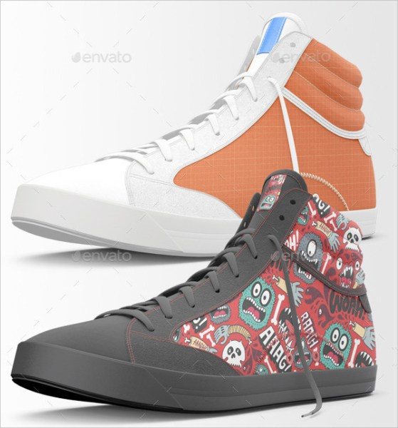 Fashion Sneakers Shoes Mockups