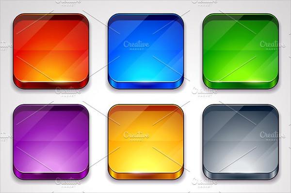 Glossy App Icon Frames