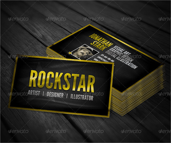 Golden Leather Business Cards
