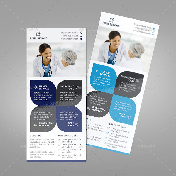 Health Care Rack Card Template