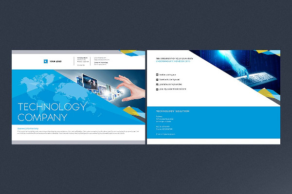 Technology Company InDesign Brochure
