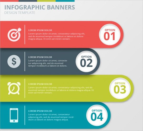 Infographics Presentation Banner Templates Collection