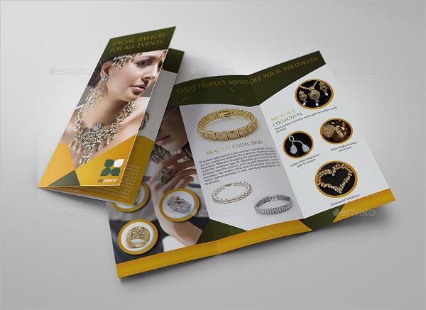 Jewelry & Accessories Tri Fold Catalog Brochure