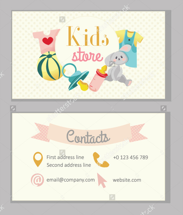 Kindergarten Kids Business Card Template