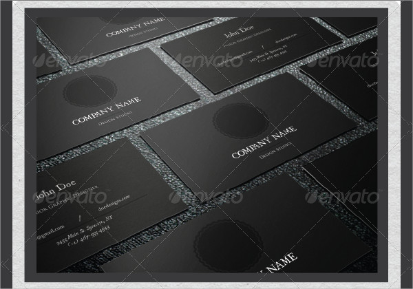 Leather Pressed Business Cards